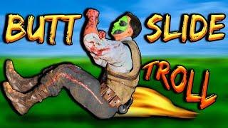 UNLIMITED BUTT SLIDE Glitch - BO4 Zombies - Hilarious Troll