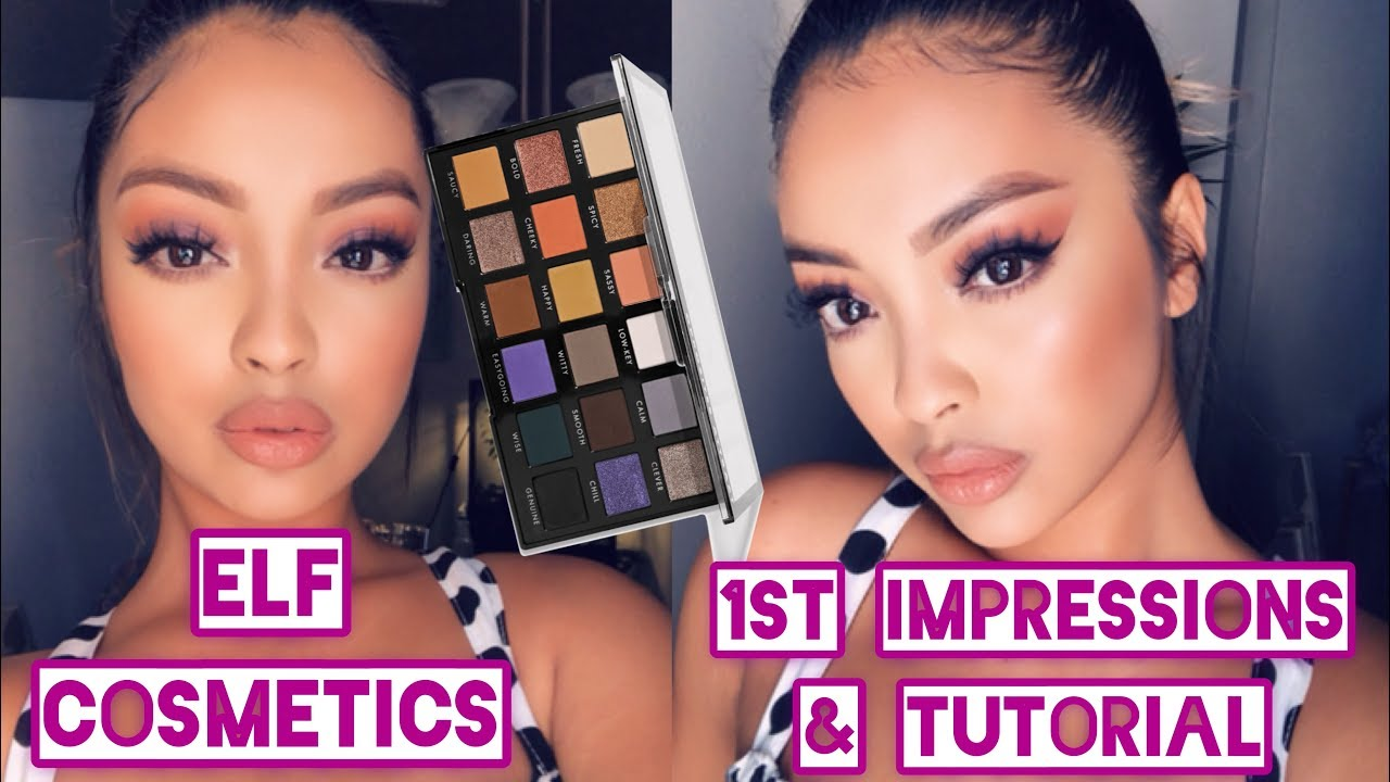 ELF Cosmetics First Impressions & Tutorial | Easy Drugstore Tutorial | Opposites Attract Palette