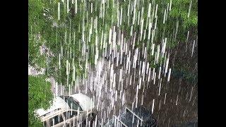 Смотреть видео И ещё один ливень в Москве 18 мая 2018 года /Погода в Москве сегодня /Downpour in Moscow онлайн