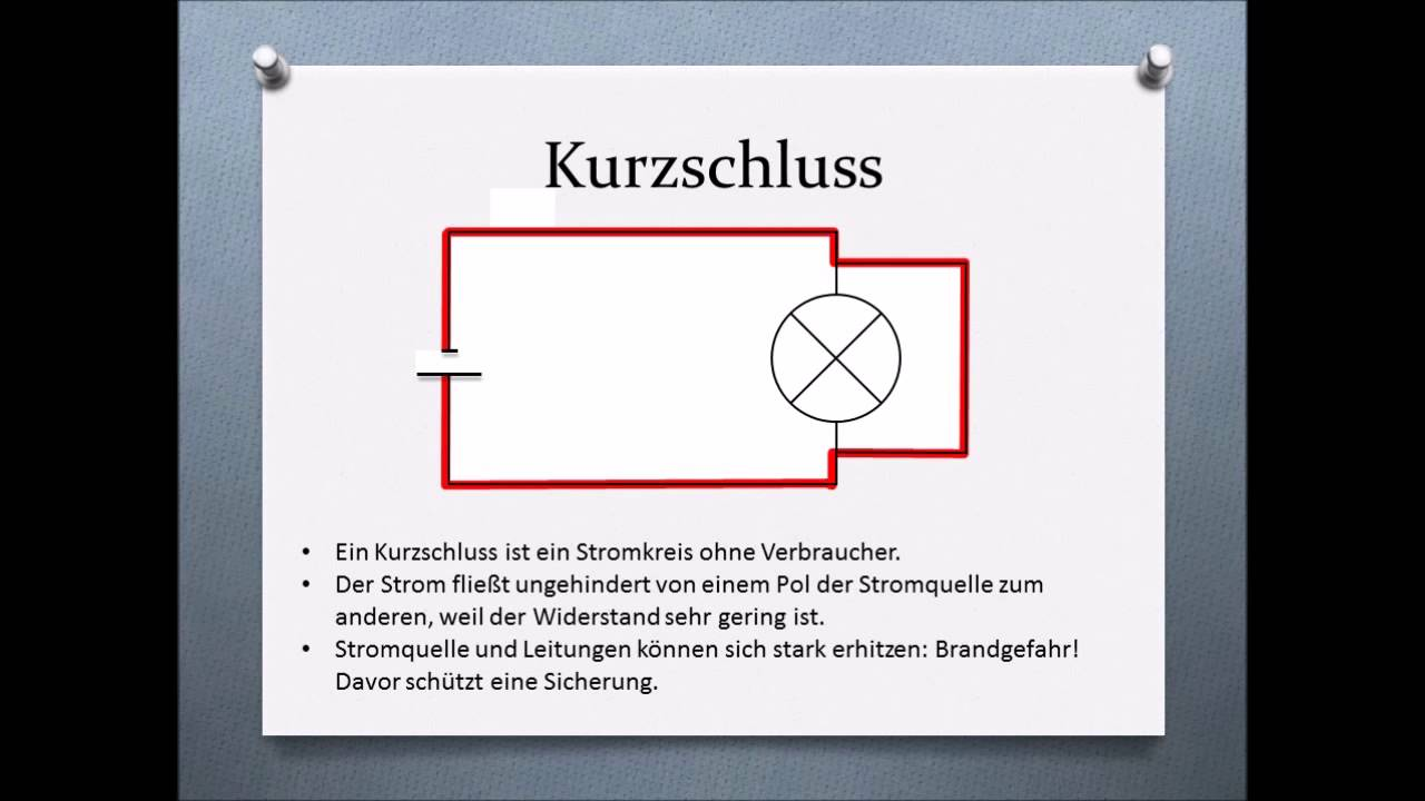 Kurzschluss - Überlastung - Sicherung - einfach erklärt - YouTube