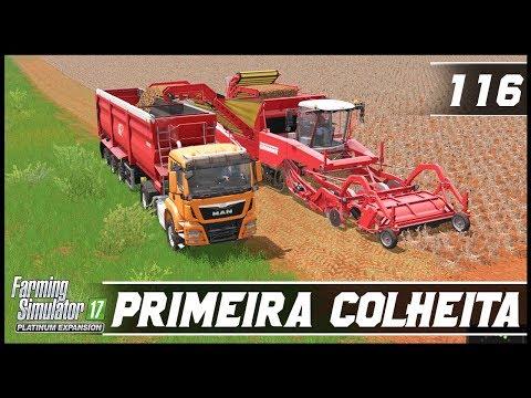 PRIMEIRA COLHEITA DE BATATAS! | FARMING SIMULATOR 17 PLATINUM EDITION #116 | PT-BR |