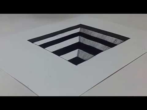 Belajar Cara Menggambar 3d Di Kertas Untuk Pemula Yang Mudah Gambar Lubang Tangga Youtube