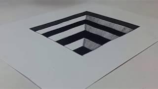 Download Video Belajar cara menggambar 3D di kertas untuk pemula yang mudah | GAMBAR LUBANG TANGGA MP3 3GP MP4