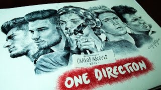 Drawing ONE DIRECTION (Dibujando a ONE DIRECTION)