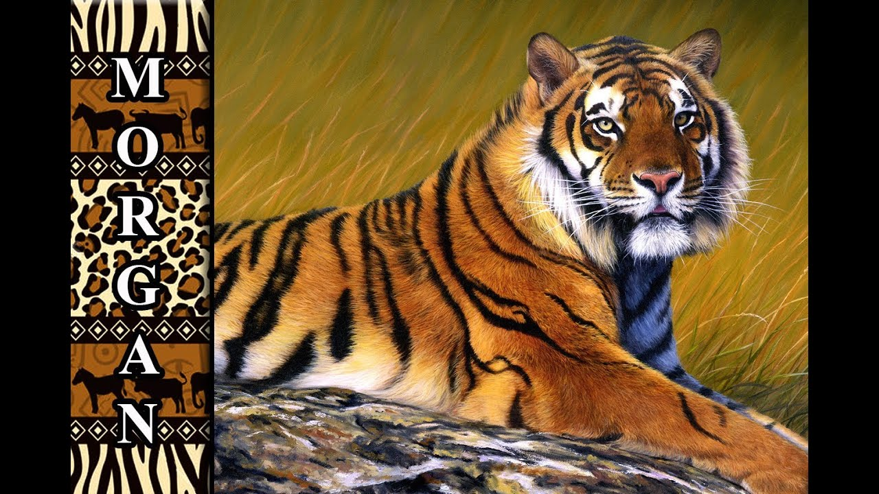 Wildlife Art Tiger Painting Step By Step Demo Tutorial