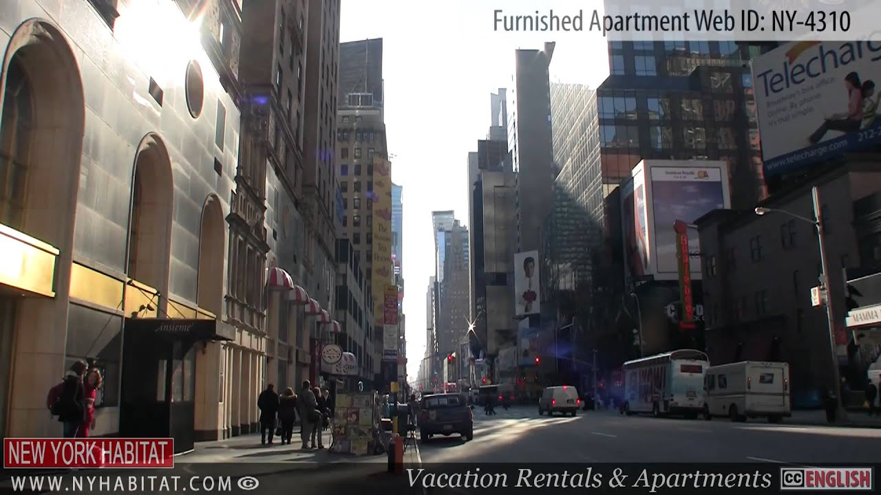 midtown west new york city video tour of a furnished apartment