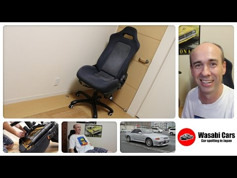 how to make an office chair from an r32 nissan skyline gt r seat youtube car seats office chairs