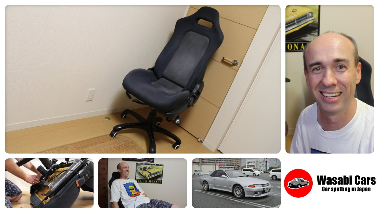 car seat desk chair conversion amazon baby how to make an office from r32 nissan skyline gt r youtube