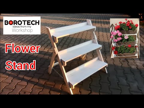 # 79- Simple wooden flower stand - dimensions from YouTube · Duration:  1 minutes 25 seconds