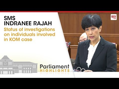 Status of investigations on individuals involved in KOM case