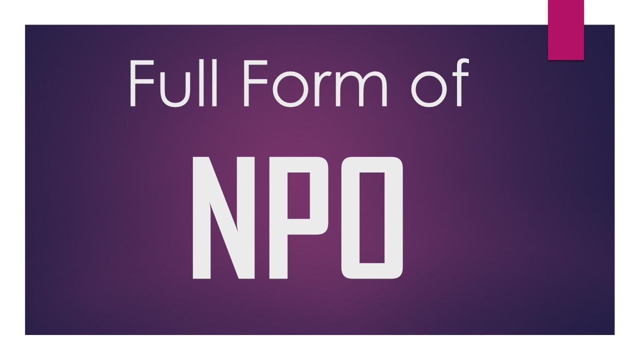 What is NPO in medical terms