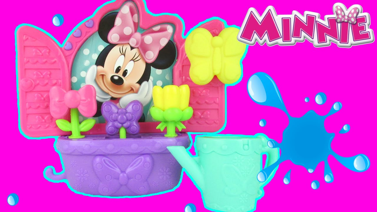 disney minnie mouse bathtime bow tiful bath blooms playset toy review fisher price toys