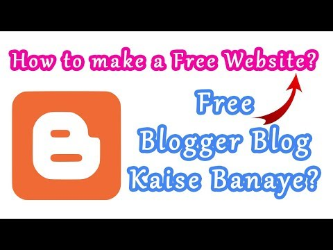 Blogger Blog Kaise Banaye? | How to make a free Website? Hindi Video by BhiHai