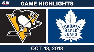 NHL Highlights | Penguins vs. Maple Leafs - Oct. 18, 2018