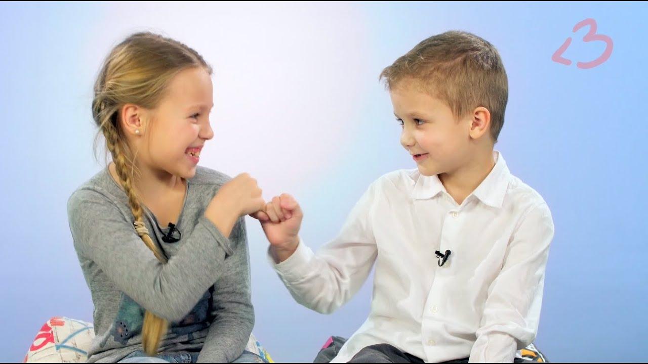 Вопрос детям: Как нужно мириться с друзьями? - YouTube