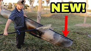 I got a CANOE Old Town Discovery 11.9 Solo Sportsman Unboxing and Overview