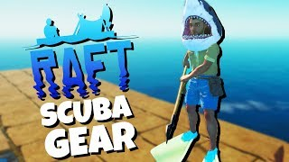 Epic SHARK HAT and SCUBA Gear! - Raft Gameplay