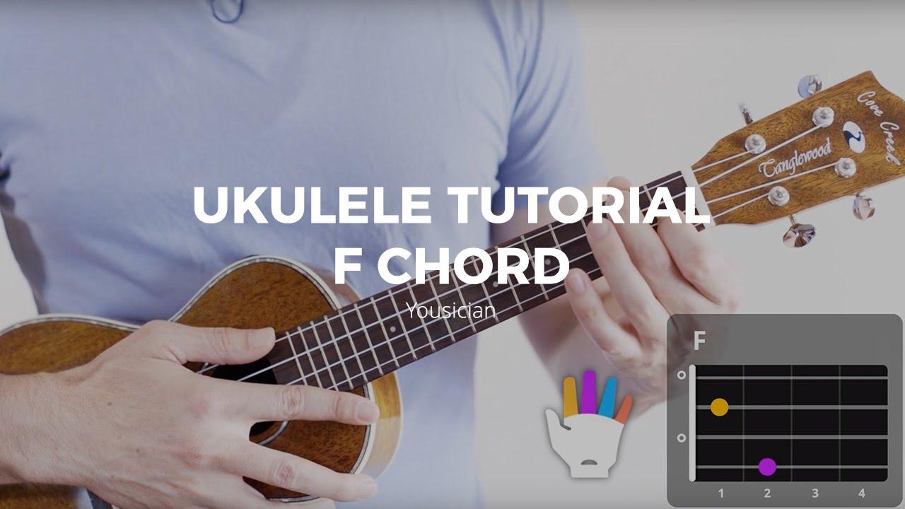 Ukulele tutorial f chord youtube hexwebz Images