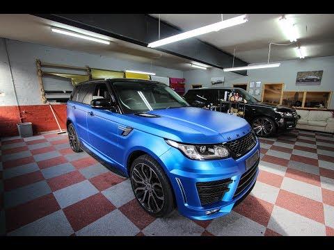 Range Rover Sport Matt Ice Blue Titanium Wrap