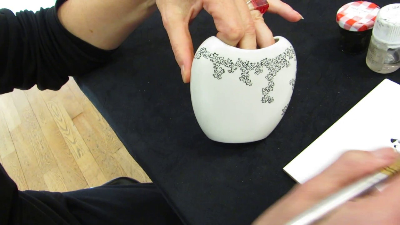 Tuto Peinture Sur Porcelaine peinture sur porcelaine, travail à la plume par l'atelier du pivert