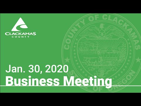 Board Of County Commissioners' Meeting Jan. 30, 2020