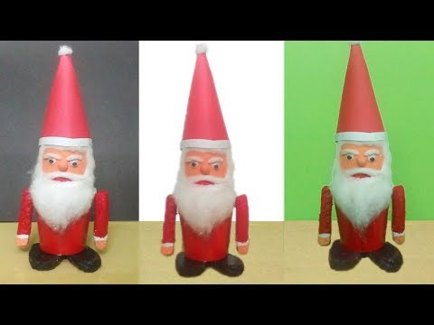 Santa Claus waste paper cup - DIY Best Out Of Waste - Waste Paper Cup Santa - Best out of waste