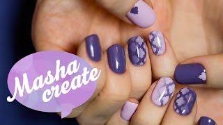 Гель лак:  Дизайн ногтей с трафаретом для маникюра Vinylist