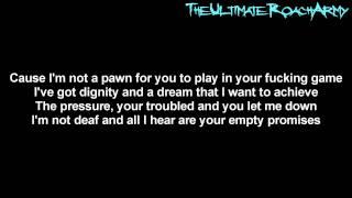 Papa Roach - Blood (Empty Promises) {Lyrics on screen} HD