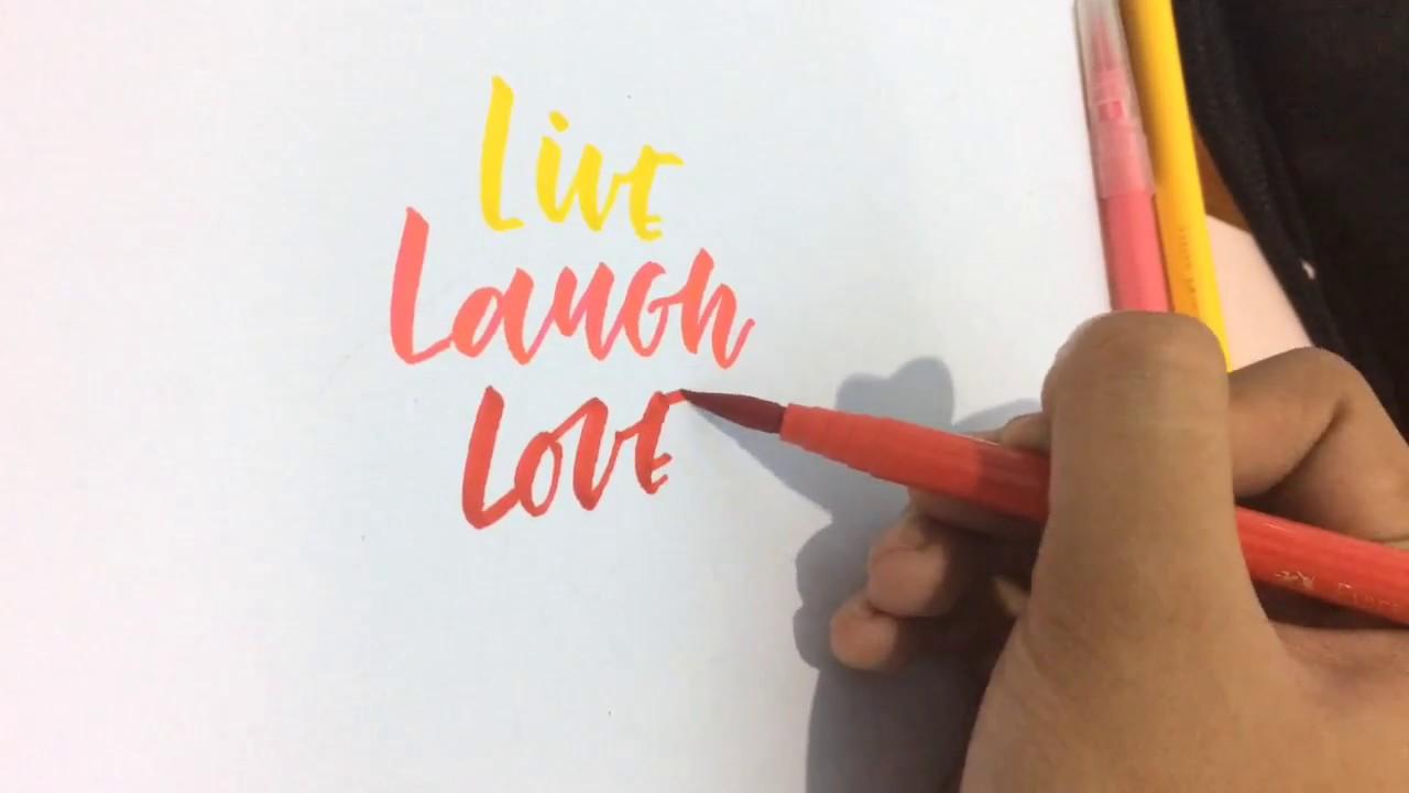 Faber castell brush pen calligraphy sample lesson artsyletters