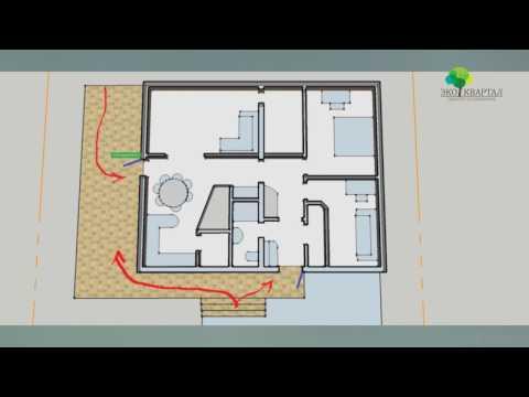 Проект дома Кальяри (одноэтажный дом 80-85квм).