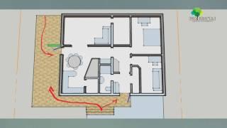 Проект дома Кальяри (восточный фасад, одноэтажный дом 80-85квм).(Особенности проектов небольших домов и дач. Как построить рациональный дом. Проект небольшого дома своими..., 2016-06-24T17:38:52.000Z)
