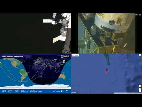 Orbital Sunrise Over Asia - ISS Space Station Earth View LIVE NASA/ESA Cameras And Map - 22