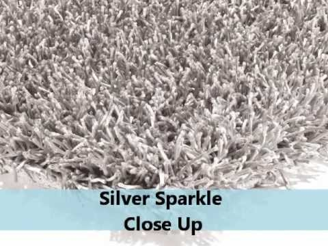 The New Sparkle Silver Shaggy Rugs