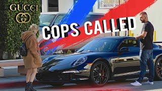 GOLD DIGGER Uses FAKE MONEY $ at GUCCI 😱💰 🚨 COPS CALLED 🚨