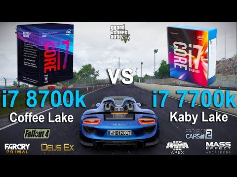 i7 8700k vs i7 7700k Test in 7 Games