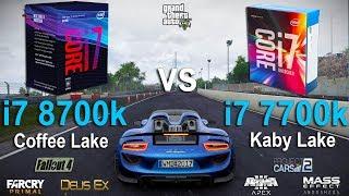 i7 8700k vs i7 7700k Test in 7 Games