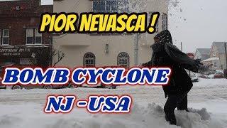 Pior Neve da Vida ! Bomb Cyclone chegou em New Jersey