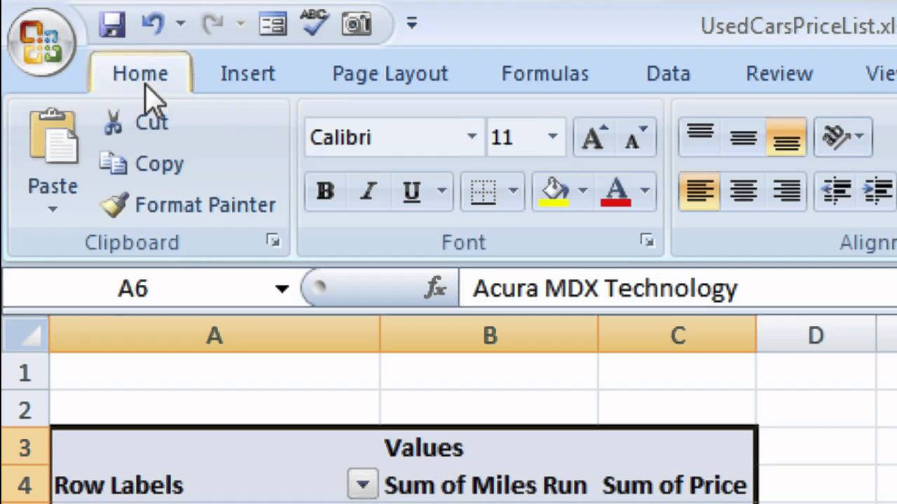 how to create a pivot table youtube