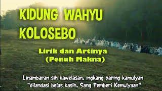 Kidung Wahyu Kolosebo Lirik Dan Artinya