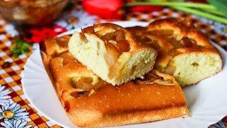 Шарлотка с яблочным вареньем — видео рецепт