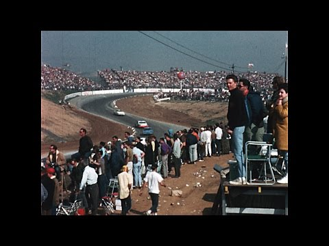 A Novice works a Riverside Raceway Stock Car Race in 1970