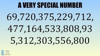 Why Mathematicians Love 69,720,375,229,712,477,164,533,808,935,312,303,556,800