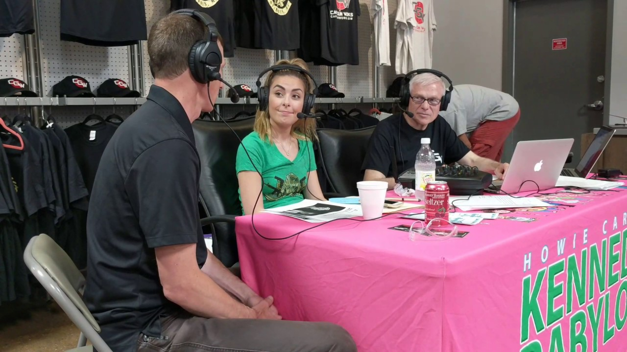 Howie Carr and Grace chat with Toby during the live radio broadcast at CGW