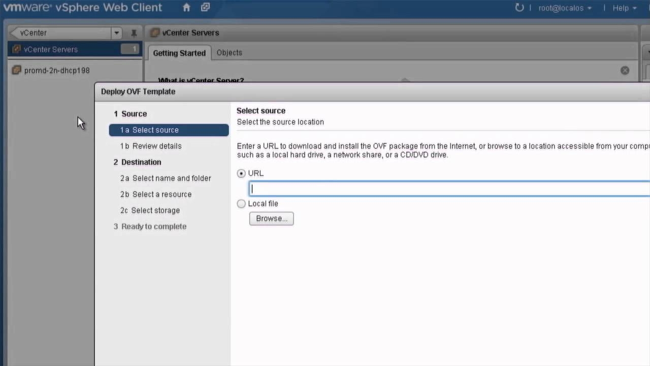 Deploying and Exporting OVF Templates in the vSphere Web Client ...