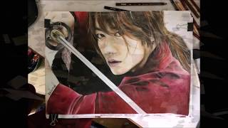 Kenshin himura speed drawing takeru satoh one ok rock the beginning