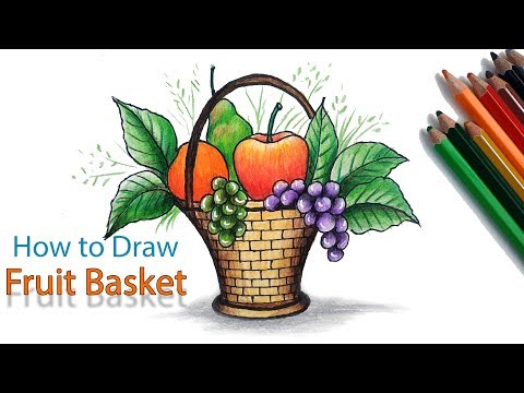 How To Draw Fruit Basket Step By Step (Very Easy)
