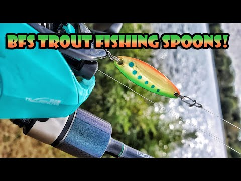 Trout Fishing With BFS Spoons - Tsurinoya Spirit Fox Reel And Dexterity Rod
