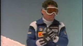 Frank Bare quadruple flip on skis 1983