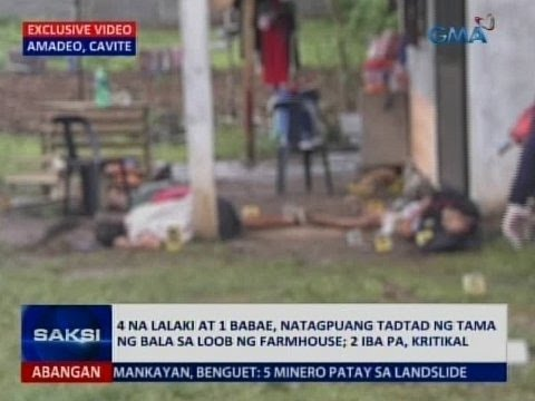 Saksi: 5 patay sa isang farmhouse sa Amadeo, Cavite