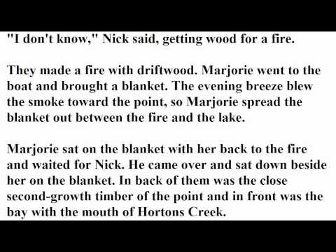 """""""The End of Something""""  by Ernest Hemingway (read by Tom O'Bedlam)"""